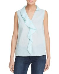 effd3a5525be4 Elie Tahari - Adreena Sleeveless Ruffle-trim Top - Lyst
