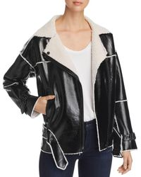 Kenneth Cole - Faux-leather Belted Moto Jacket - Lyst