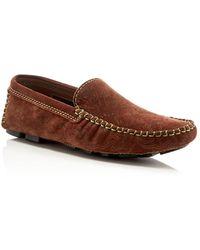 Robert Graham - Verrazano Paisley Nubuck Driving Loafers - Lyst
