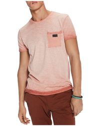 Scotch & Soda - Oil Wash Pocket Crewneck Tee - Lyst