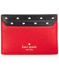 Kate Spade - Blake Street Hearts Lynleigh Leather Card Case - Lyst