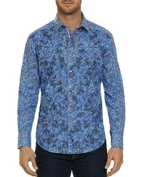 Robert Graham - Hutchinson Embroidered Houndstooth-print Classic Fit Shirt - Lyst