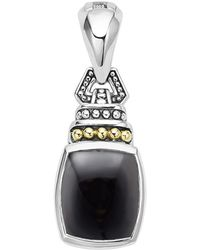 Lagos - 18k Gold And Sterling Silver Caviar Colour Pendant With Black Onyx - Lyst
