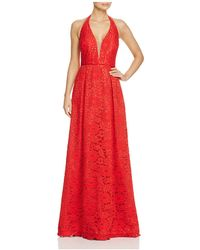 JS Collections - Lace Halter Gown - Lyst