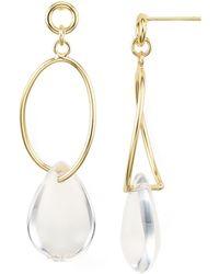 Aqua - Loop Drop Earrings - Lyst