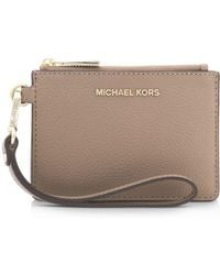 ca61d73ee0030 MICHAEL Michael Kors - Small Leather Wristlet - Lyst