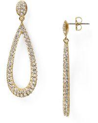 Nadri - Open Long Teardrop Earrings - Lyst