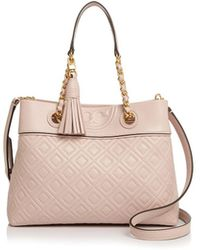 Tory Burch - Fleming Small Quilted Leather Crossbody - Lyst