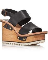 737887b07d6 Chloé - Women s Valentine Platform Wedge Sandals - Lyst