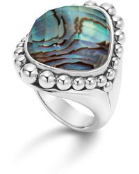 Lagos - Sterling Silver Maya Doublet Dome Ring With Abalone - Lyst