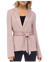 B Collection By Bobeau - Tie - Front Knit Jacket - Lyst