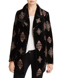 Karen Kane - Embroidered Velvet Jacket - Lyst