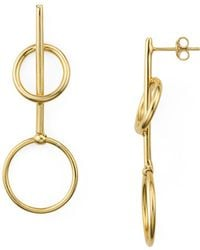 Argento Vivo - Double Loop Drop Earrings - Lyst