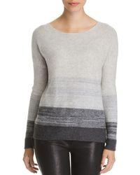 C By Bloomingdale's - Marled Color-block Cashmere Sweater - Lyst