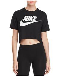Nike - Essential Logo Cropped Tee - Lyst