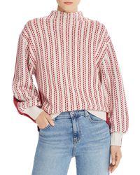 Equipment - Veleraine Wool - Blend Contrast Sweater - Lyst