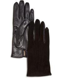 Bloomingdale's - Cashmere-lined Suede Tech Gloves - Lyst