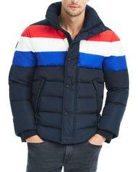 Sam. - Olympic Contrast-stripe Puffer Jacket - Lyst