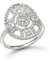 Meira T - 14k White Gold Antique Inspired Diamond Ring - Lyst