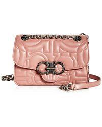 55e5272e3290 Ferragamo - Medium Quilted Leather Convertible Shoulder Bag - Lyst