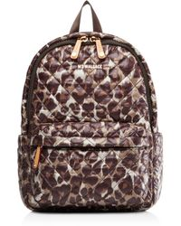 MZ Wallace - Quilted Leopard Small Metro Backpack - Lyst