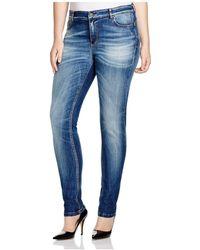 Marina Rinaldi - Igloo Slim Fit Jeans In Sky Blue - Lyst