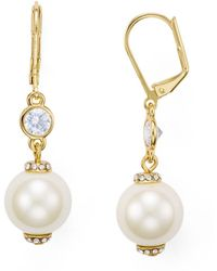 Kate Spade - Simulated Pearl Leverback Earrings - Lyst