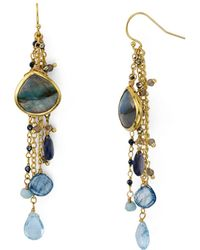 Ela Rae - Multi-chain Drop Earrings In 14k Gold-plated Sterling Silver - Lyst