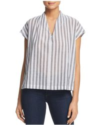 Kenneth Cole - Striped Boxy Top - Lyst