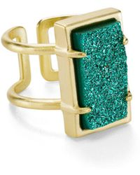 Kendra Scott - Lennox Adjustable Drusy Ring - Lyst