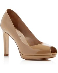 Via Spiga - Brandy Peep Toe Platform Court Shoes - Lyst