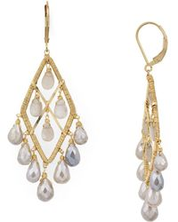Dana Kellin - Teardrop Chandelier Earrings - Lyst