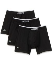 Lacoste - Stretch Cotton Boxer Briefs - Pack Of 3 - Lyst