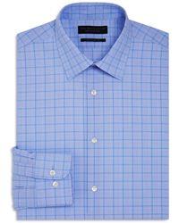 Bloomingdale's - Large Grid Check Overcheck Regular Fit Dress Shirt - Lyst