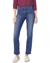 NYDJ - Petites Marilyn Straight-leg Jeans In Lupine - Lyst
