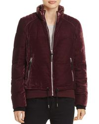 Marc New York - Vita Velvet Puffer Coat - Lyst