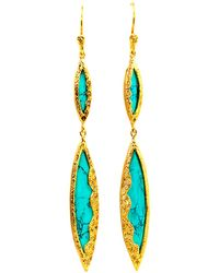 Melinda Maria - Sassy Turquoise Marquis Earrings - Lyst