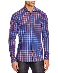 James Campbell - Crinkle Plaid Regular Fit Sport Shirt - Compare At $125 - Lyst