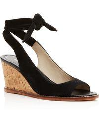 Bettye Muller - Playlist Ankle Tie Wedge Sandals - Lyst