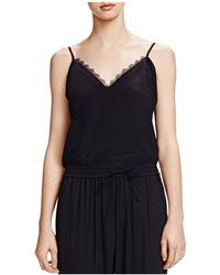 The Kooples - Lace-trimmed Silk Camisole - Lyst
