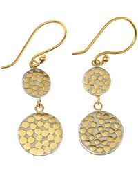 Anna Beck - Double Disc Drop Earrings - Lyst