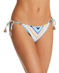 Nanette Lepore - Amalfi Coast Striped Vamp Bikini Bottom - Lyst