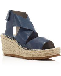 Eileen Fisher - Willow Espadrille Platform Wedge Sandals - Lyst