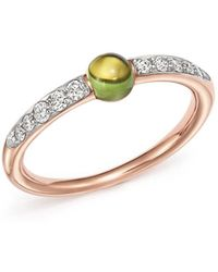 Pomellato - M'ama Non M'ama Ring With Peridot And Diamonds In 18k Rose Gold - Lyst