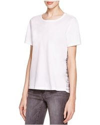 Clu Too - Plaid Contrast Tee - Lyst