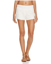 Macbeth Collection - Macbeth Crocheted Swim Cover Up Shorts - Lyst