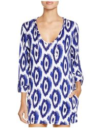 Macbeth Collection - Printed Hooded Tunic Swim Cover Up - Lyst