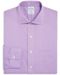 Brooks Brothers - Men's Classic/regular Fit Non-iron Purple Dobby Dress Shirt - Lyst