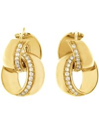 Chimento | 18k Yellow Gold Double Link Infinity Earrings With Diamonds | Lyst