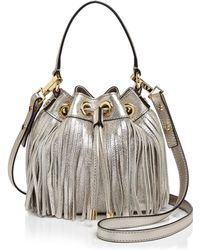 MILLY - Small Essex Fringe Drawstring Bucket Bag - Lyst